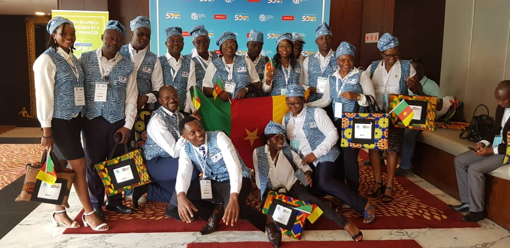 PMI Cameroon chapter team at PMI Africa Conference-Tanzania 2019